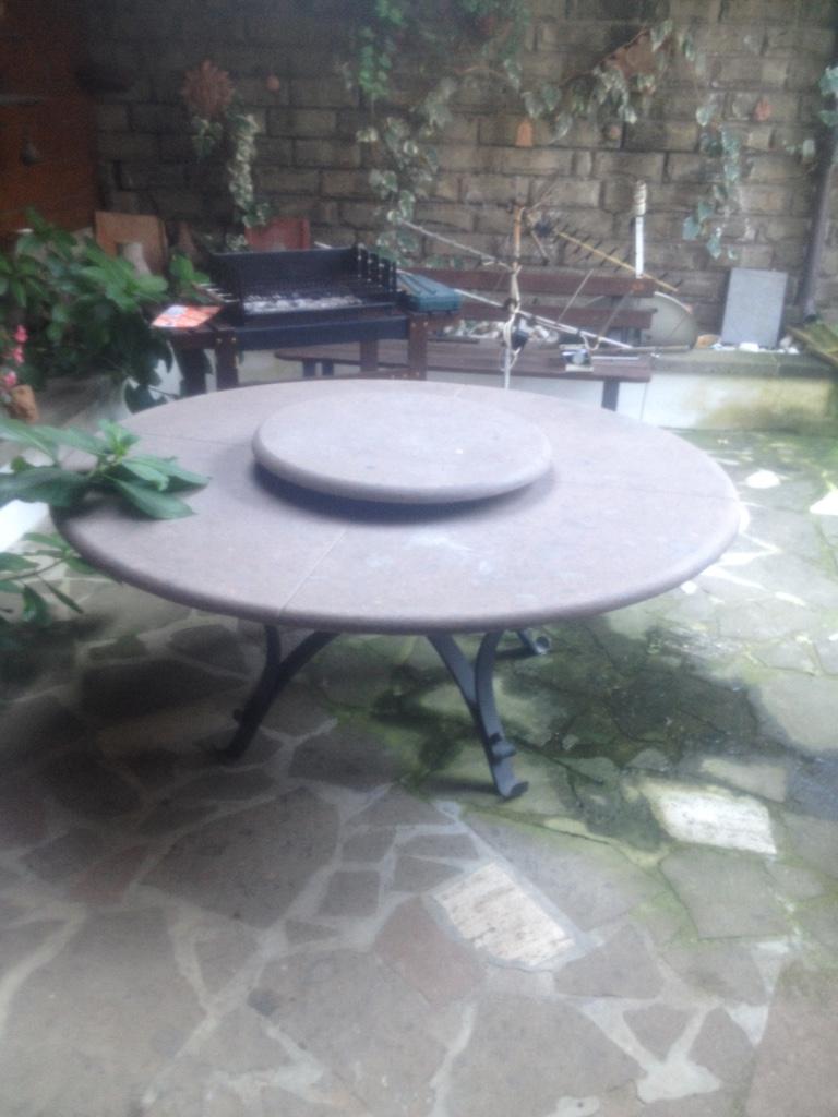 Tavoli da giardino in ferro tondi for Tavoli da giardino obi